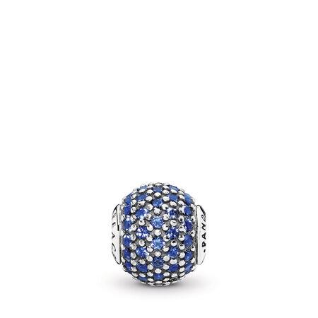 PEACE Charm, Blue Crystal