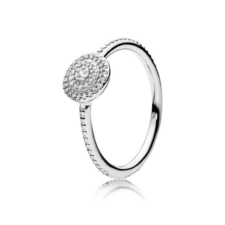 Radiant Elegance Ring, Clear CZ