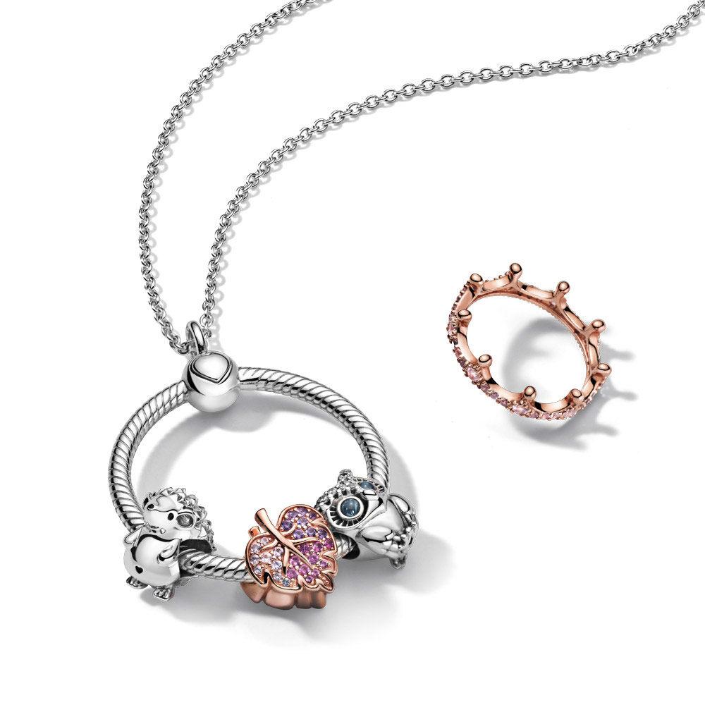 Pandora Moments Medium O Pendant | Sterling silver | Pandora US