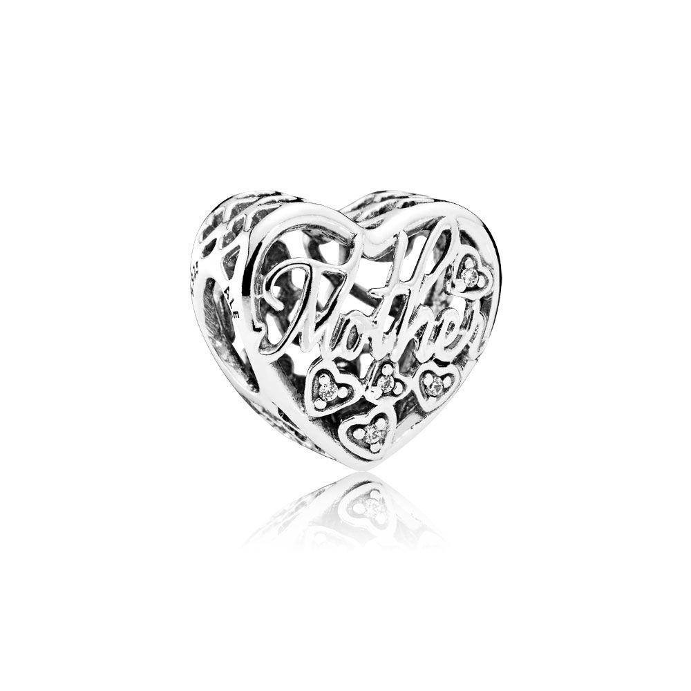 Mother & Son Bond Charm, Clear CZ | PANDORA Jewelry US