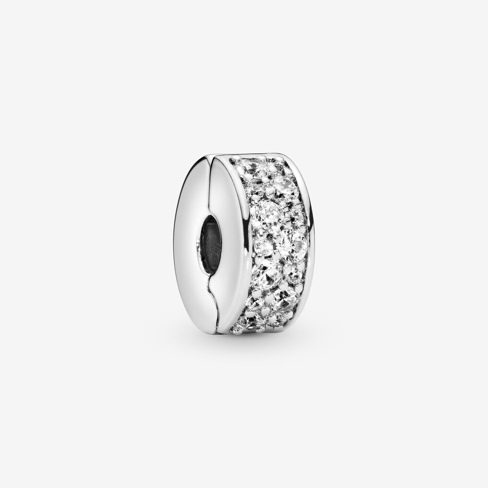Shining Elegance Clip with Clear CZ   Sterling silver   Pandora US