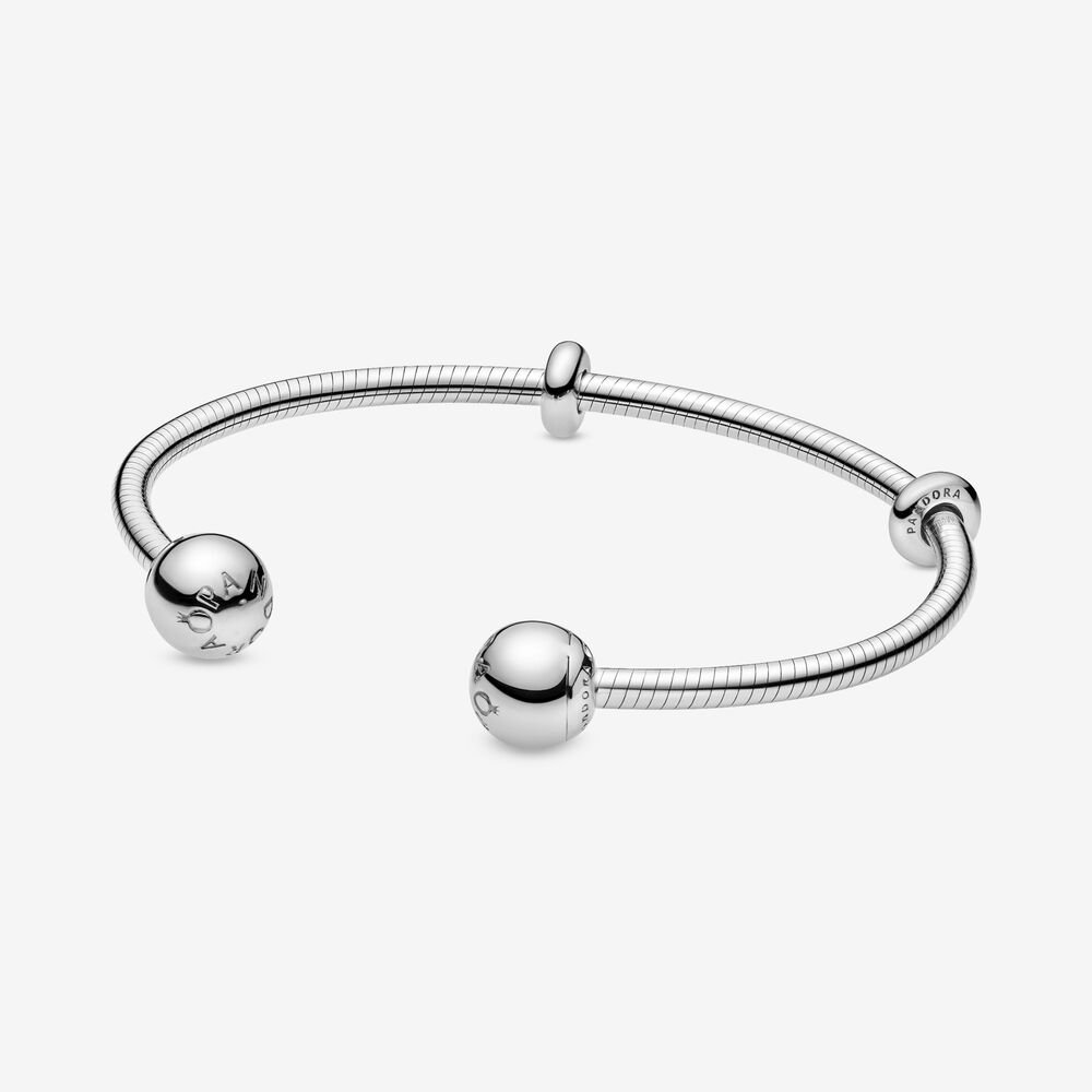 Pandora Moments Snake Chain Style Open Bangle