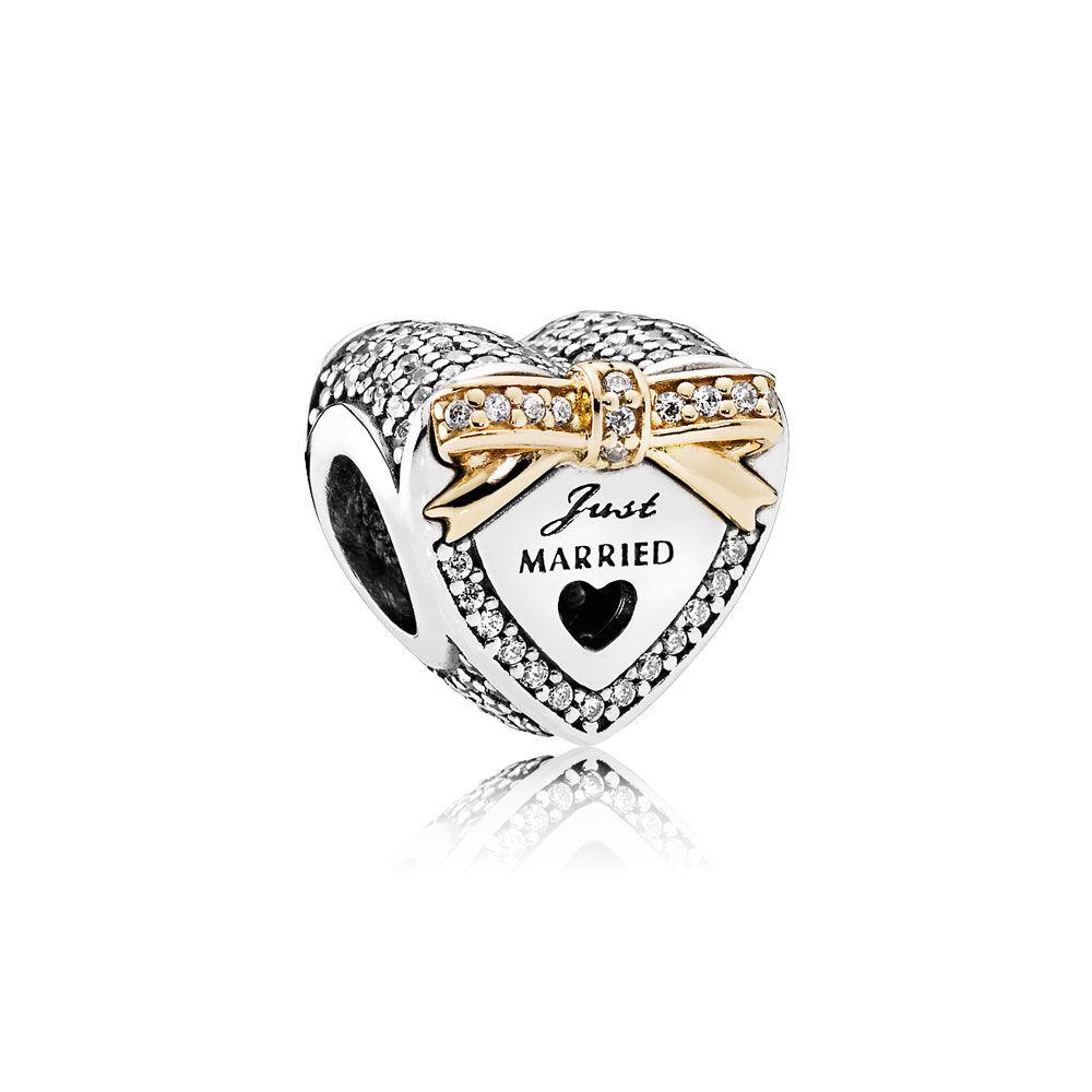 Wedding Heart Charm Clear Cz