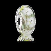 Wild Flowers Charm, Murano Glass & Clear CZ