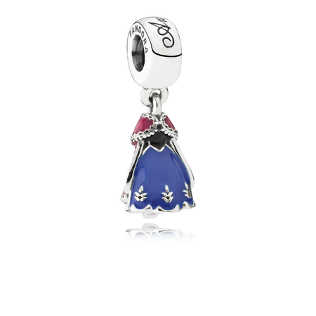 Disney, Anna's Dress Dangle Charm, Mixed Enamel