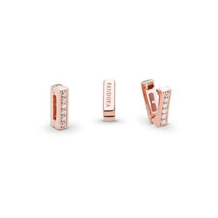 PANDORA Reflexions™ Timeless Sparkle Clip Charm, PANDORA Rose™ & Clear CZ