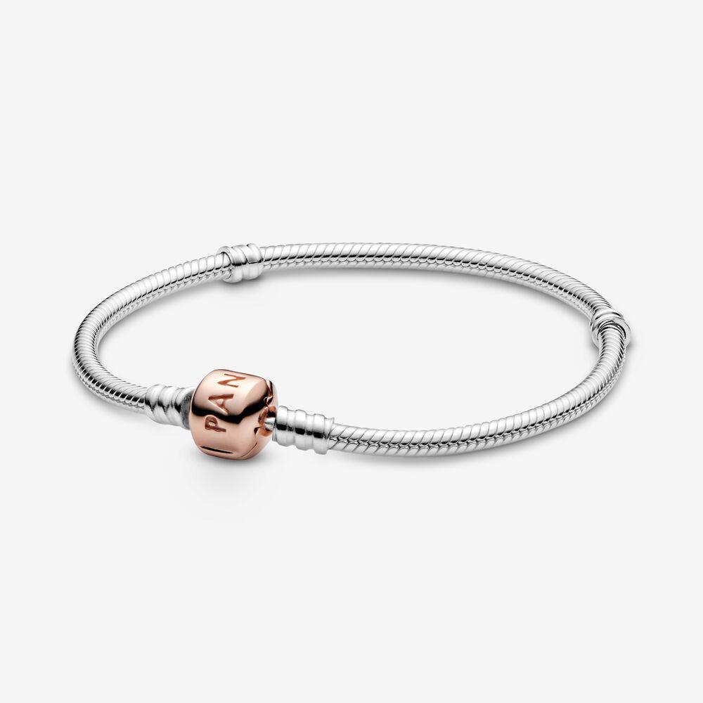 Pandora Moments Snake Chain Bracelet | Two-tone | Pandora US