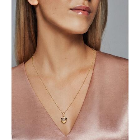 PANDORA Signature Heart Pendant, PANDORA Shine™ & Clear CZ