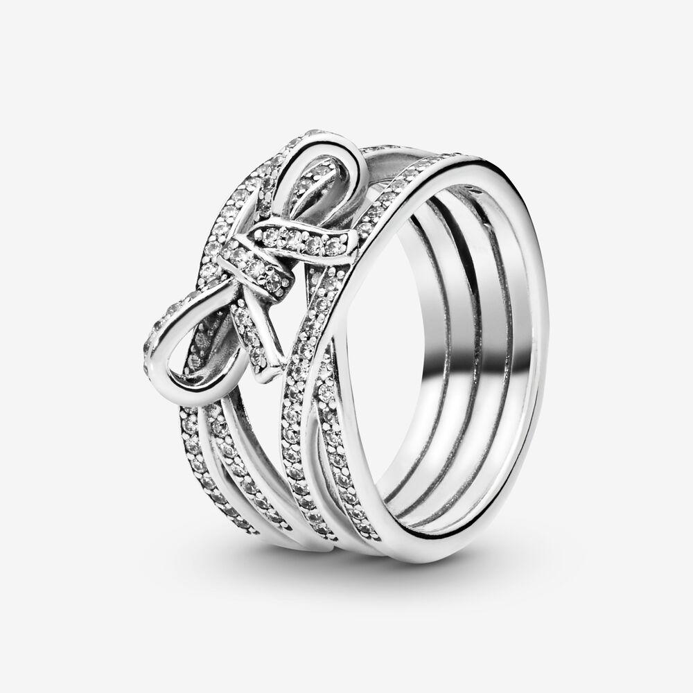 anello con fiocco pandora