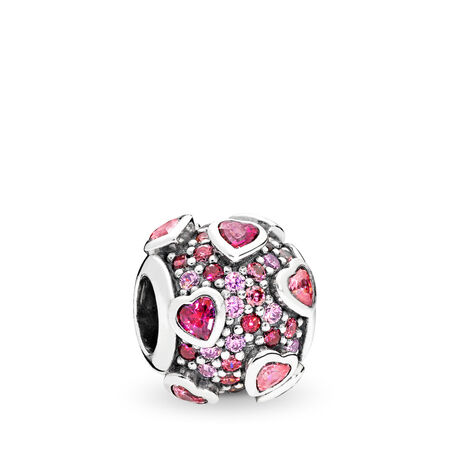 Explosion of Love Charm, Multi-Colored CZ