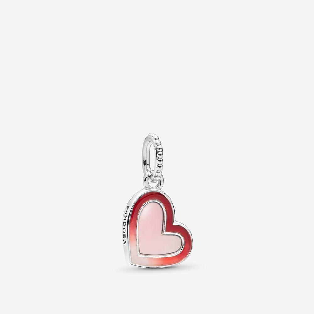 Asymmetrical Heart Dangle Charm