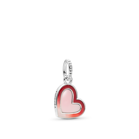 Asymmetrical Heart Dangle Charm