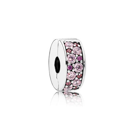 Mosaic Shining Elegance Clip, Fancy Pink & Fancy Purple CZ