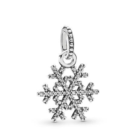 Winter Kiss Snowflake Pendant, Clear CZ, Sterling silver, Cubic Zirconia - PANDORA - #390354CZ