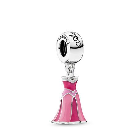 Disney, Aurora's Dress Dangle Charm, Mixed Enamel, Sterling silver, Enamel, Pink - PANDORA - #791921ENMX