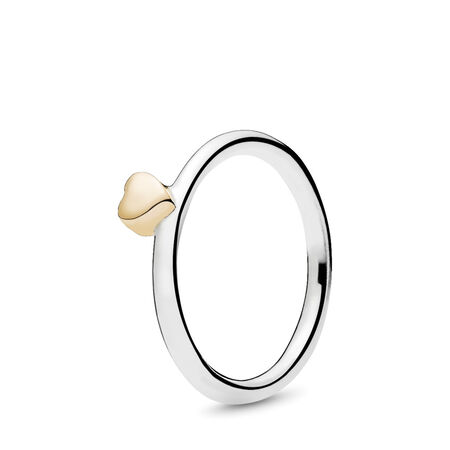 Puzzle Heart Ring, Two Tone - PANDORA - #196548
