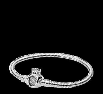 Pandora Moments Crown O & Snake Chain Bracelet