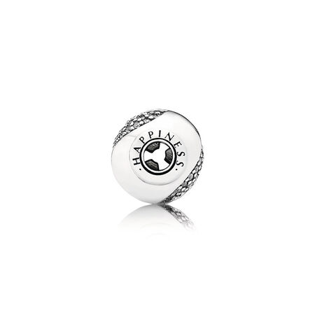 HAPPINESS Charm, Clear CZ