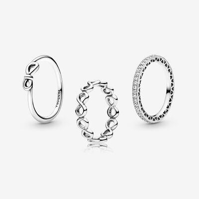 판도라 인피니티 세트 반지 Rings of Infinity Set , Silver