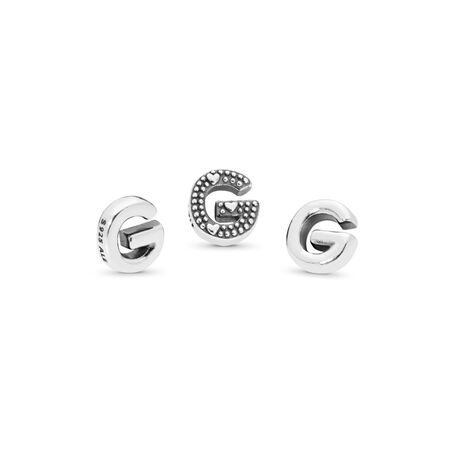Letter G Petite Locket Charm, Sterling silver - PANDORA - #797325