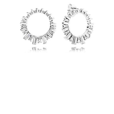 Glacial Beauty Drop Earrings, Clear CZ