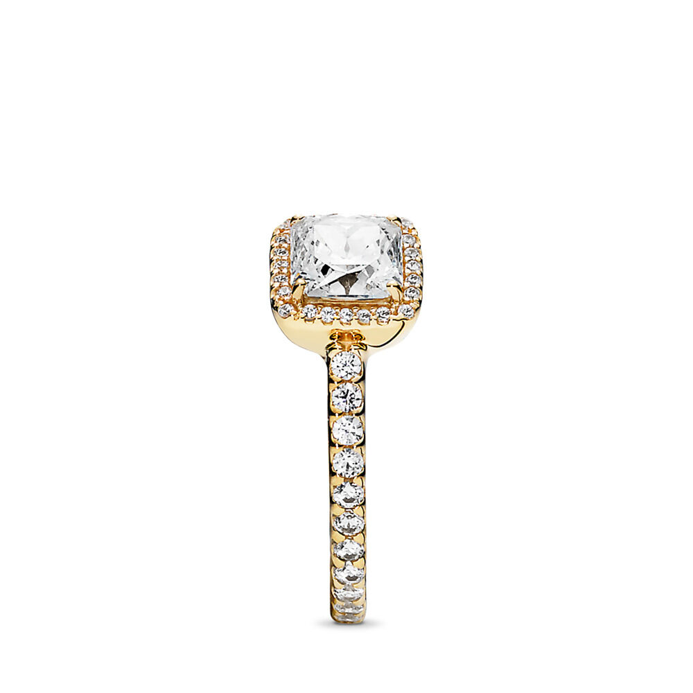 03e02f8a2 Timeless Elegance Ring, 14K Gold & Clear CZ