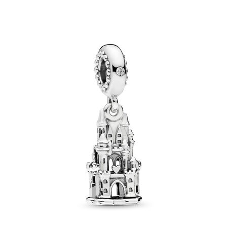 Regal Castle Dangle Charm, Clear CZ