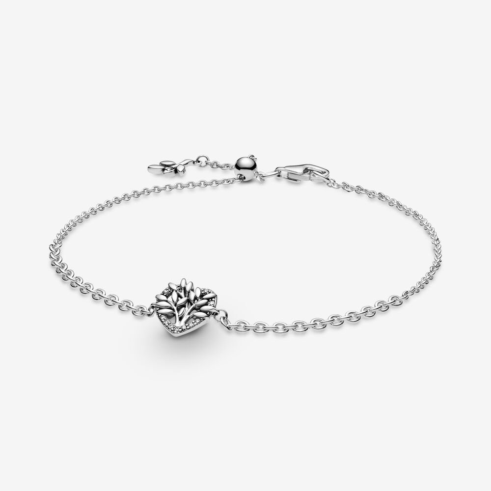 Heart Family Tree Chain Bracelet | Sterling silver | Pandora US