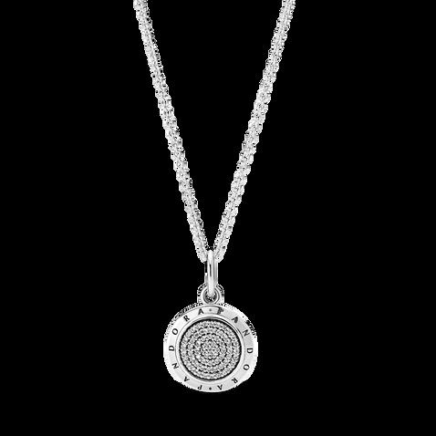 Pandora Logo Pavé Pendant Necklace