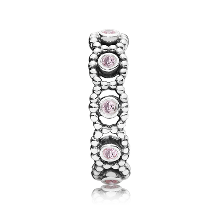 Her Majesty Ring, Pink CZ