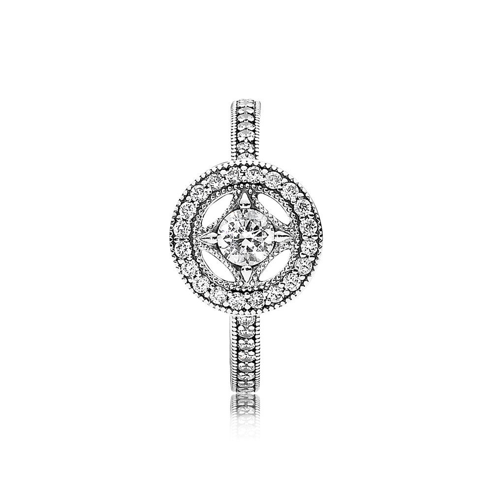 Vintage Allure Ring Clear Cz Pandora Jewelry Us