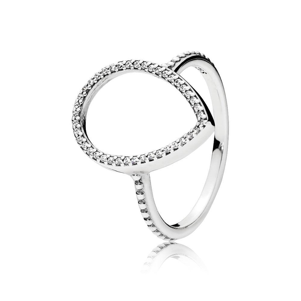 pandora rose halo ring