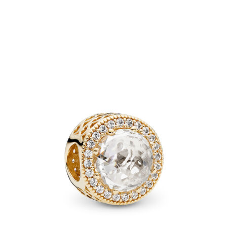 4c9389253 Radiant Hearts Charm, 14K Gold & Clear CZ Yellow Gold 14 k, Cubic Zirconia