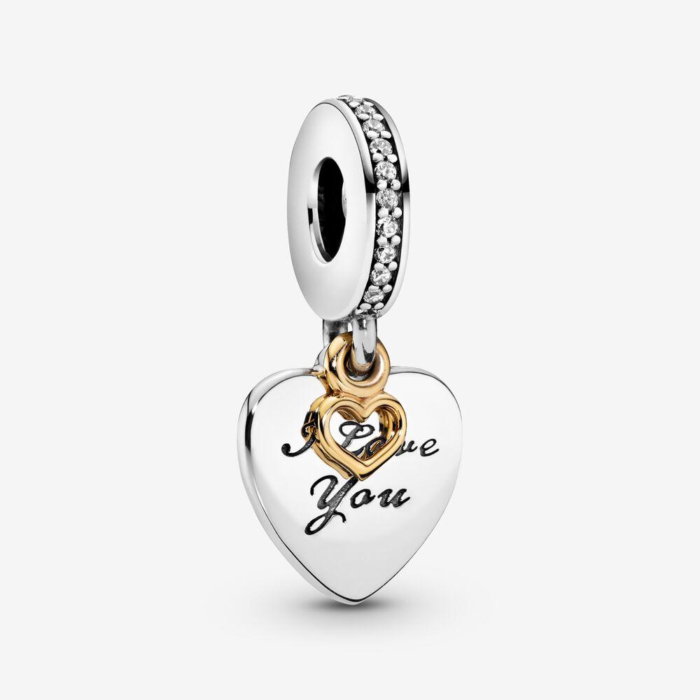 I Love You Forever Heart Dangle Charm | Two-tone | Pandora US