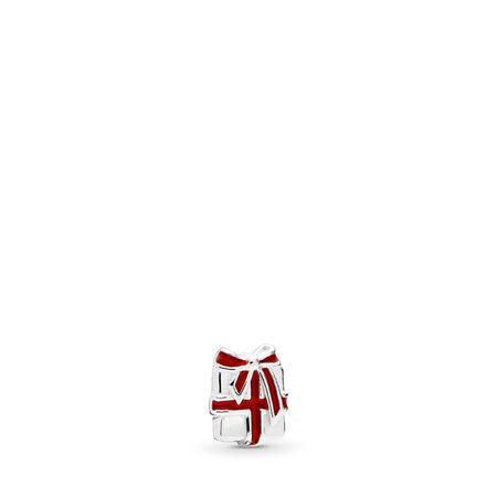 Loving Gift Petite Locket Charm, Berry Red Enamel, Sterling silver, Enamel, Red - PANDORA - #796396EN39