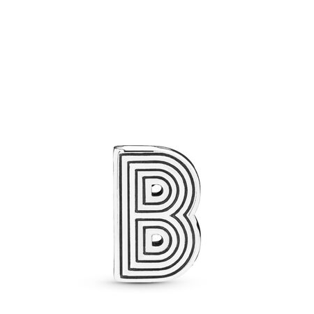 Pandora Reflexions™ Letter B Clip Charm, Sterling silver, Silicone - PANDORA - #798198