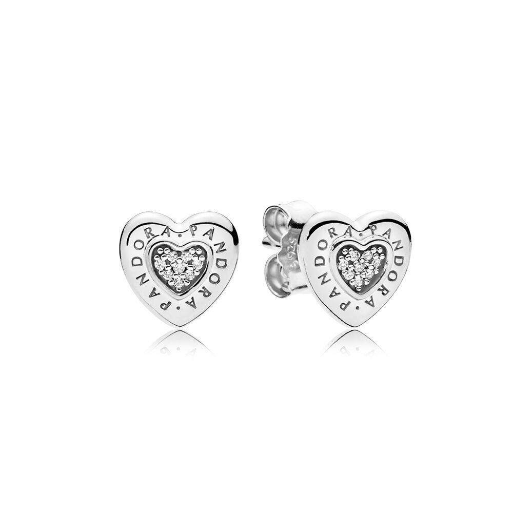 pandora heart earrings