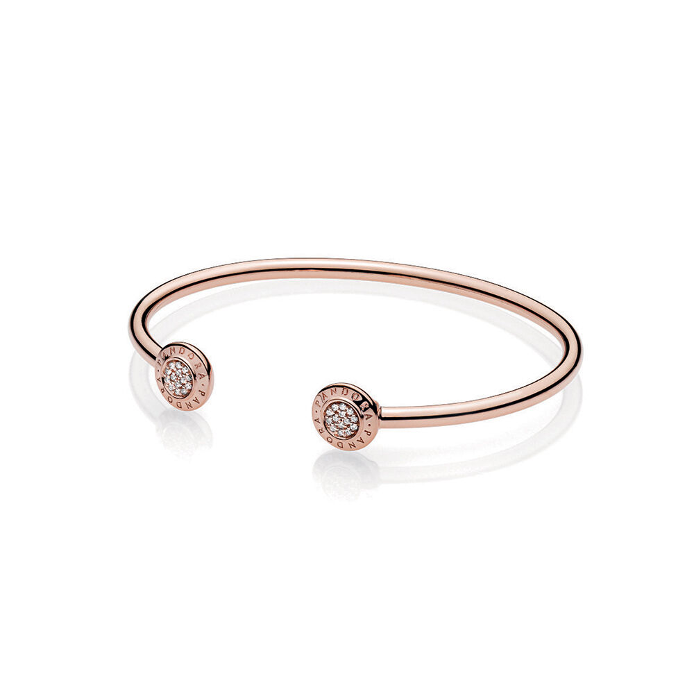 Pandora Signature Open Bangle Bracelet Pandora Rose