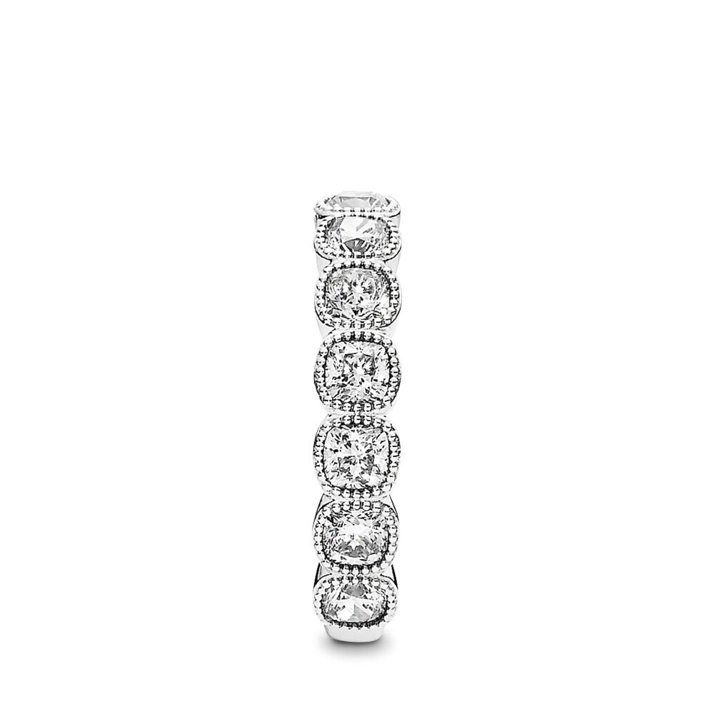 838a60050 Alluring Cushion Ring, Clear CZ, Sterling silver, Cubic Zirconia - PANDORA  - #