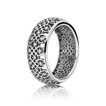 Intricate Lattice Ring, Clear CZ