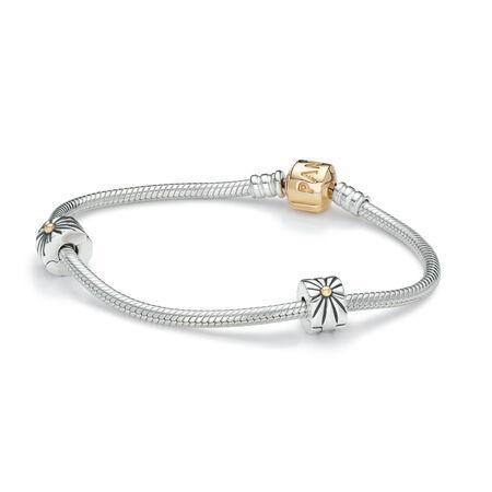 Iconic PANDORA Two Tone Clasp Bracelet