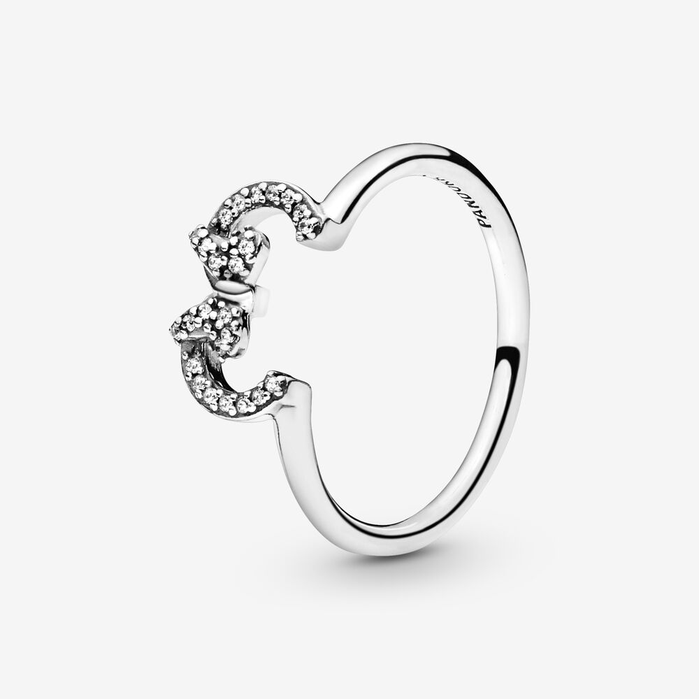 Disney Minnie Mouse Ears Silhouette Puzzle Ring | Sterling silver ...