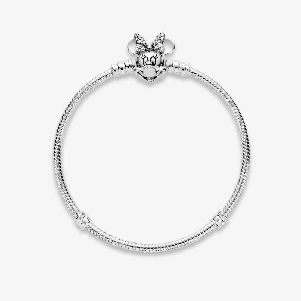 Shimmering Minnie Portrait Bracelet | Sterling silver | Pandora US