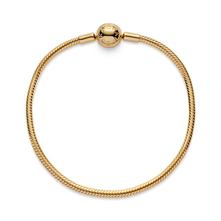 Moments Snake Chain Bracelet, 18ct Gold Plated - PANDORA - #567107
