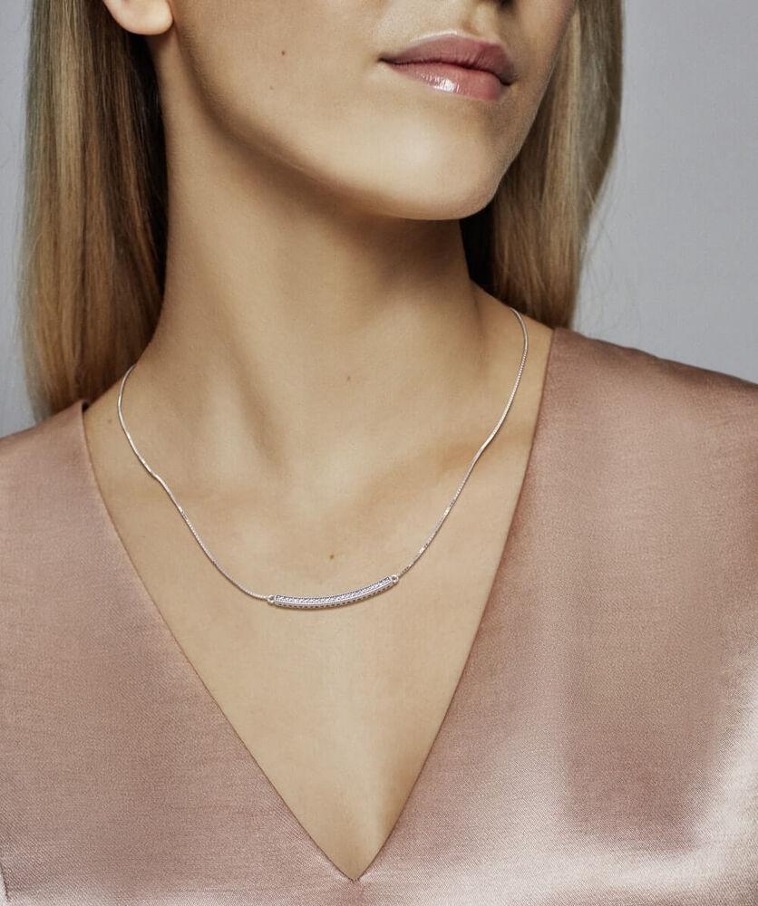 Hearts Of Pandora Bar Necklace Clear Cz Pandora Jewelry Us