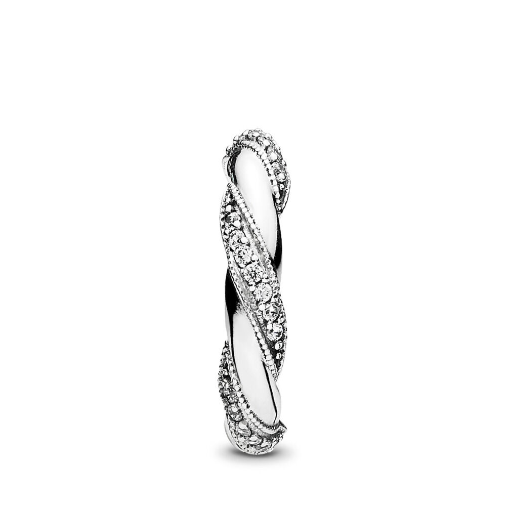 df9c3a8cfb1a3 Dreams of Love Ring, Clear CZ Sterling silver, Cubic Zirconia