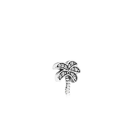 Sparkling Palm Tree Petite Locket Charm