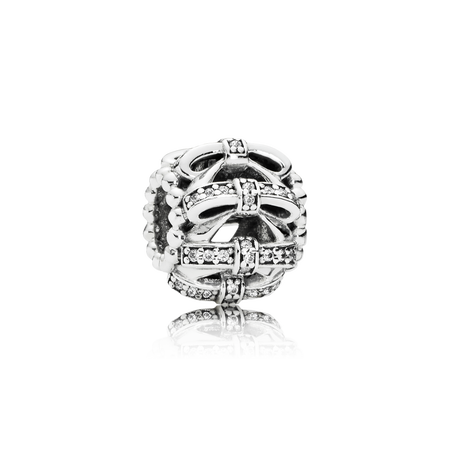Shimmering Sentiments Charm, Clear CZ
