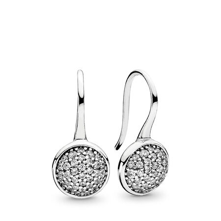 Dazzling Droplets Drop Earrings, Clear CZ, Sterling silver, Cubic Zirconia - PANDORA - #290734CZ