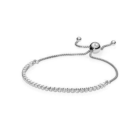 Sparkling Strand Bracelet Clear Cz